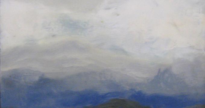 Approaching storm  - Encaustic
