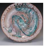 Blue Figure Plate - Lindsey Francis